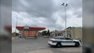 Winnipeg police officers received a report of an assault at the back of a convenience store in the 100 block of Salter Street at around 1:10 a.m. (Source: Jamie Dowsett/CTV News)
