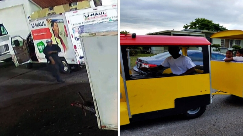 Thief uses U-Haul to steal party train in Fla.