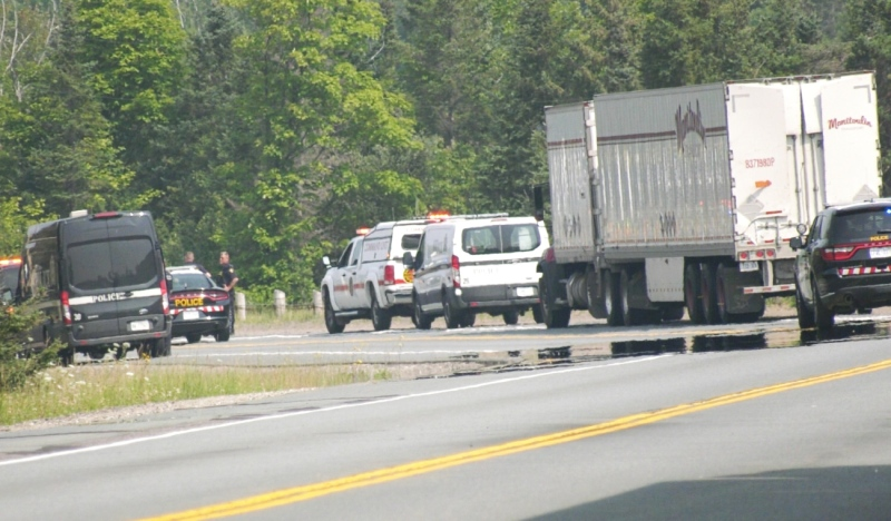 Great Northern Road in Sault Ste. Marie has reopened following a four-vehicle collision that sent 10 people to hospital Wednesday. (Christian D'Avino/CTV News)