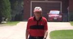 Harry Norris walks in his hometown of Mitchell, Ont. on Wednesday, July 28, 2021. (Scott Miller / CTV News)