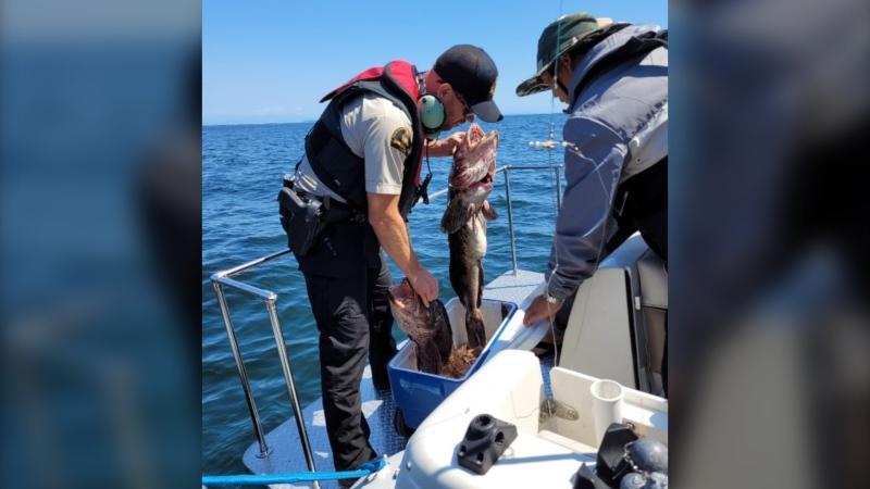 Inspections of 76 boats and 187 anglers were carried out around B.C.'s Gulf Islands on July 9 and 10, 2021. (Fisheries and Oceans Canada)