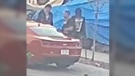 Edmonton police are looking for four suspects of a downtown Edmonton shooting that took place just before 7:30 a.m. on Tuesday. CREDIT: Edmonton Police Services.