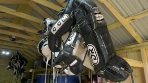 The Kids Christian Hockey League is giving away equipment in Brockville ahead of its shutdown. (Nate Vandermeer/CTV News Ottawa)