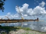 The Wolfe Island Ferry is under construction. (Kimberley Johnson/CTV News Ottawa)