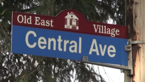 A man reportedly forced his way into a home on Central Avenue in downtown London, Ont. before fleeing and falling from a roof on Beattie Avenue. (Jim Knight / CTV News)