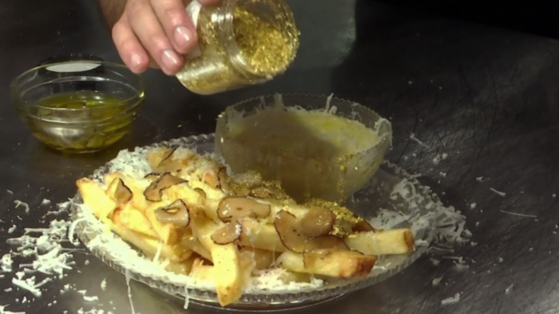 Bathed in truffle and gold: World's priciest fries