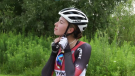 Cyclist Dylan Baker, 17, of London, Ont. is inspired by Canada's female Olympic athletes, as seen Wednesday, July 28, 2021. (Jaden Lee-Lincoln)