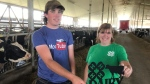 Vicky Morrison is the leader of the Essex County Dairy Club, a part of the agricultural group 4H, of which her son Scott is a member in Essex County, Ont. on Wednesday, July 28, 2021. (Michelle Maluske/CTV Windsor)