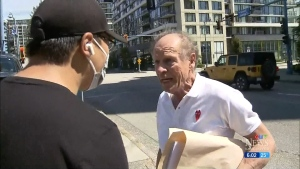 Confrontation at anti-racism rally
