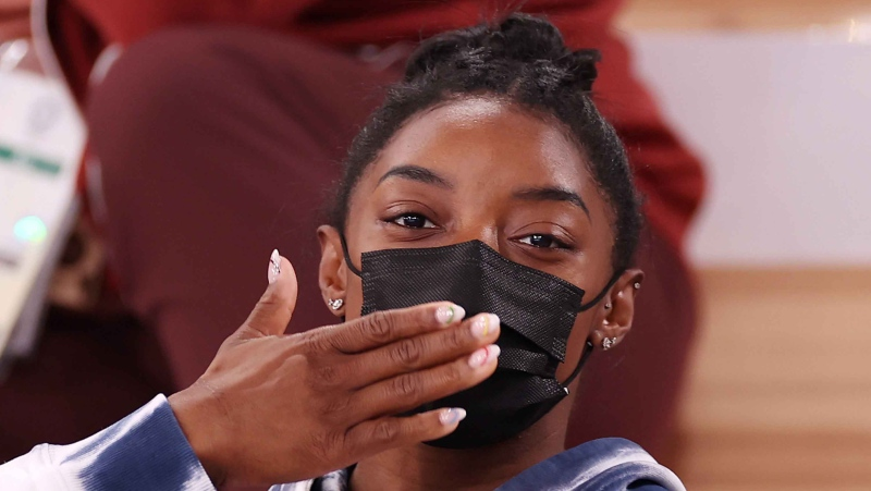 Simone Biles has withdrawn from Tokyo 2020 Olympic events. (Jamie Squire/Getty Images)