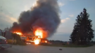 Clearview Fire battles a shed fire on Wed., July 28, 2021. (Courtesy: Clearview Fire Chief Roree Payment)