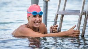 Woman aims to swim across Lake Ontario