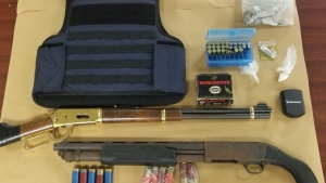 London Police Services and Drugs Section executed a search warrant in the 900-block of Dufferin Avenue on Wednesday July 29, 2021 (Source: London Police Services)