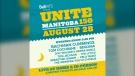 Unite 150 poster (source - Twitter: @Manitoba150)