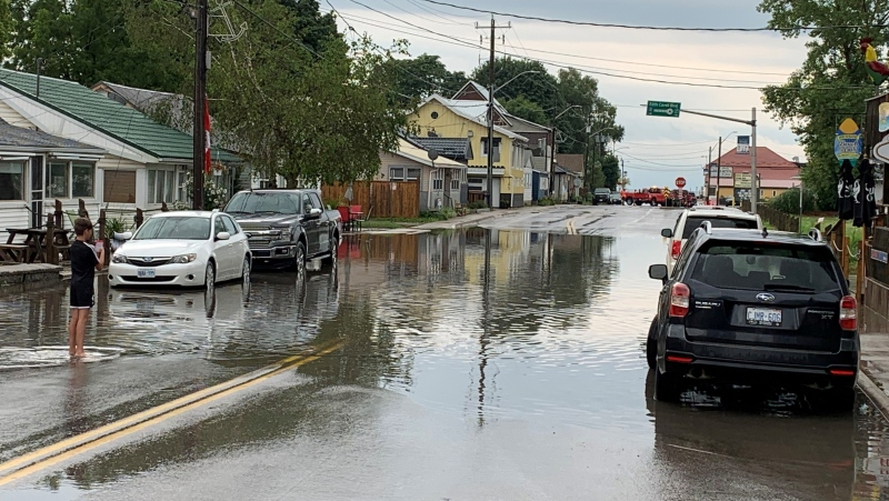 Heavy Rainfall was seen early this morning in Port Stanley (Bryan Bicknell/ CTV News)