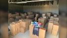AGLC investigators seized contraband tobacco products worth an estimated $4.5 million. (Supplied AGLC)