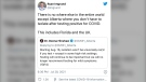 Several people on social media questioned the move by Alberta to remove quarantine requirements around COVID-19. (Ryan Imgrund/Twitter)