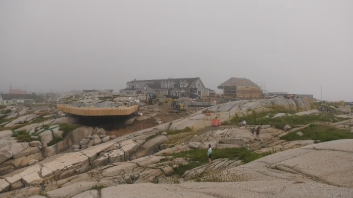 After a long pandemic hiatus, scores of tourists are starting to return to Nova Scotia's best known tourist site, even though major construction projects are still underway at Peggy's Cove.