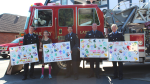 The fire departments of Saanich, Oak Bay, Esquimalt and Victoria have donated $250,000 to support child health care in the region over the past 10 years: (Victoria Hospitals Foundation)