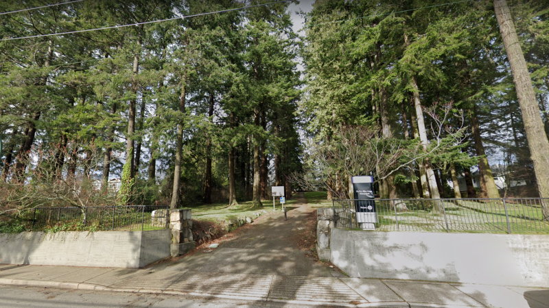 Allan Hogg Rotary Park is shown in an image from Google Street View