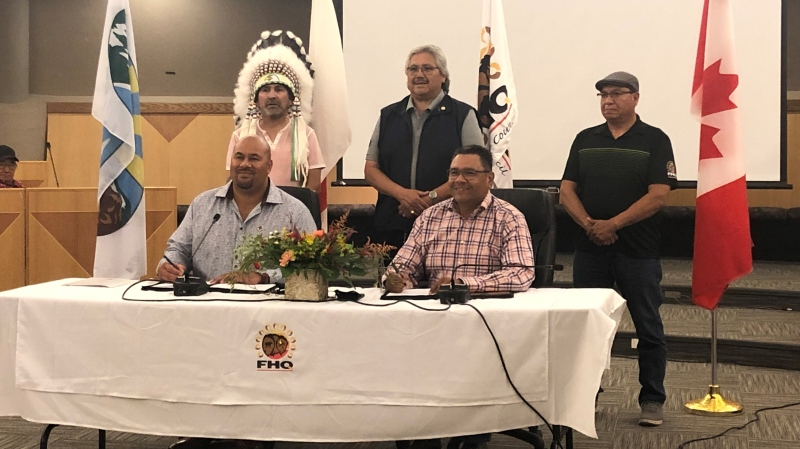 File Hills Qu'Appelle Tribal Council and Canadian Red Cross Society enter collaborative agreement.