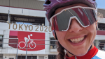 Cyclist Alison Jackson from Vermilion, Alta., made her Olympic debut at the Tokyo 2020 Olympic Games. COURTESY: Alison Jackson.