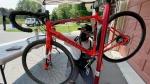 Lucas Zurawlev works on a bike in his garage, home of his business Z's Bike Fix/Ski Service. (Peter Szperling / CTV News Ottawa)