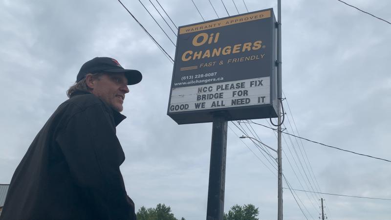 John Hannon made a plea to the National Capital Commission to fix the Hog's Back Swing Bridge for good. (Jackie Perez / CTV News Ottawa)