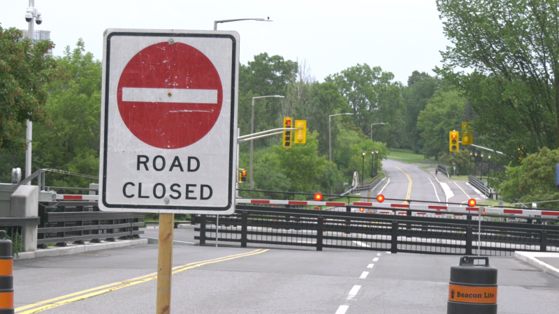 Businesses in the Prince of Wales and Meadowlands areas say they're losing a big chunk of sales because the Hog's Back Bridge is closed again. There is no timeline for when the historic swing bridge will reopen. (Jackie Perez / CTV News Ottawa)