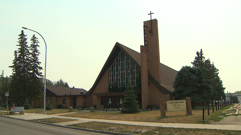 St. Emile Catholic Church in Winnipeg is pictured on July 29, 2021. (CTV News Photo)