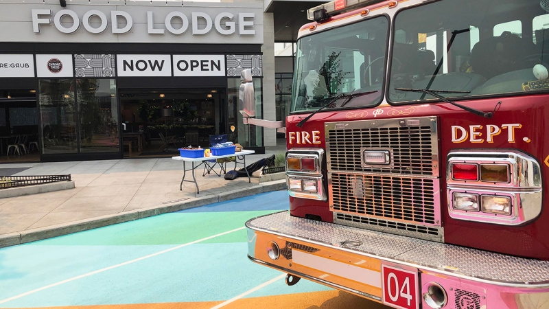About 50 people were evacuated fromthe food court of Deerfoot City Mall Thursday when a small fire started. No one was injured.