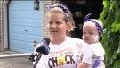 Boy gives bone marrow to sister with leukemia