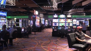 Customers gamble inside Casino Rama in Orillia, Ont. on Thurs. July 29, 2021 (Siobhan Morris/CTV News)