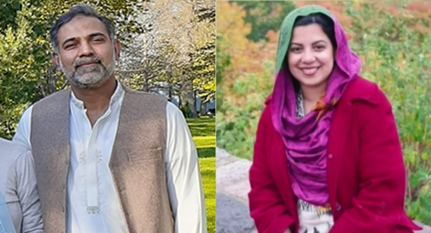 Salman Afzaal, 46, and his wife, 44-year-old Madiha Salman are seen in these undated family photos. (Source: Handout / Western University)