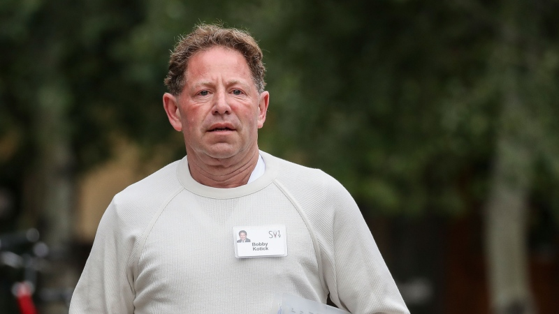 Bobby Kotick, CEO of Activision Blizzard, on July 28, 2021. He said that 'every voice matters' and vowed to do a better job in the future. Drew Angerer/Getty Images