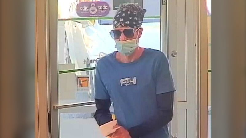 Police in Surrey are asking the public for help identifying the suspect in a recent bank robbery. (Surrey RCMP)