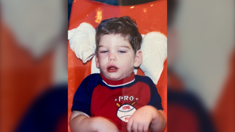 In this undated photo released by the Broward State Attorney's Office, Benjamin Dowling is seen as a toddler after he suffered a 1984 brain hemorrhage that prosecutors say was caused by his babysitter, Terry McKirchy, in Florida. McKirchy pleaded no contest to attempted murder in 1985 and received a light sentence, but was recently charged with first-degree murder. A medical examiner says Dowling's 2019 death was caused by his injuries. (Courtesy of the Dowling family/Broward State Attorney's Office)