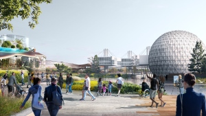 This rendering shows the planned vision for a revitalized Ontario Place.