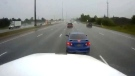 Dashcam video of truck collision on Hwy. 401