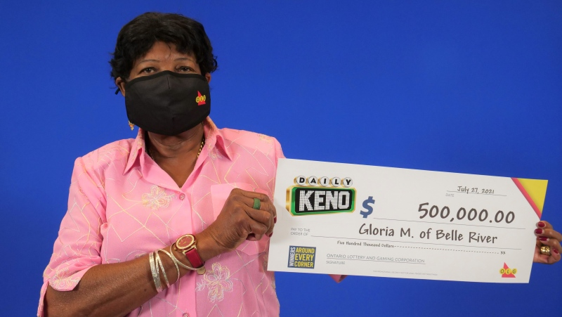 Gloria Miller, of Belle River, wins $500,000 lotto prize. (Courtesy: OLG)