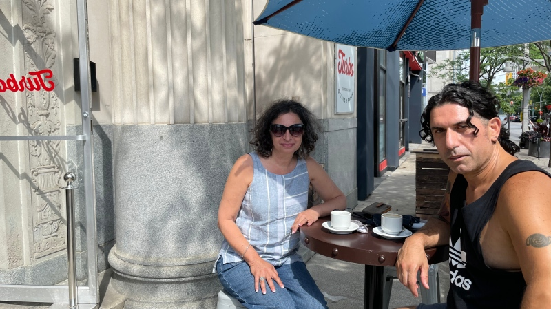 DWBIA vice chair Pat Papadeas and Turbo owner Renaldo Agostino in Windsor, Ont., on Friday, July 30, 2021.