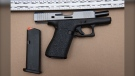 Halifax Regional Police say they seized this weapon during a traffic stop Thursday evening near the intersection of Pinecrest Drive and Primrose Street in Dartmouth's north end. (HALIFAX REGIONAL POLICE)