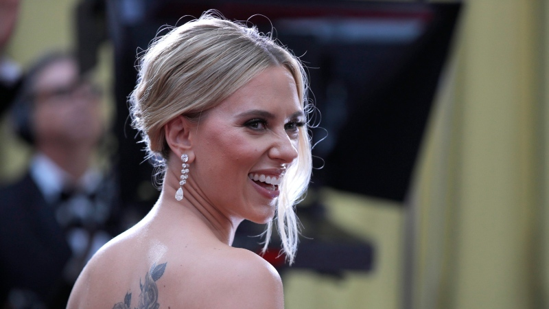 Scarlett Johansson arrives at the Oscars on Sunday, Feb. 9, 2020, at the Dolby Theatre in Los Angeles in this file photo. (AP Photo/John Locher)