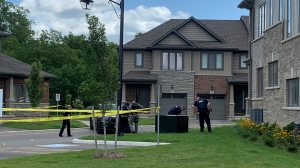 Brantford police are investigating reports of gunfire in the area of Blackburn Drive and Diana Avenue. (Carmen Wong/CTV Kitchener)