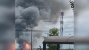 propane fire in Barrie