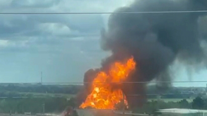 Evacuations in Barrie, Ont., after fire at propane facility