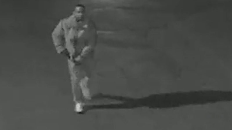 Shawn Vassel is allegedly seen in this photo on the night of the robbery. (Supplied)