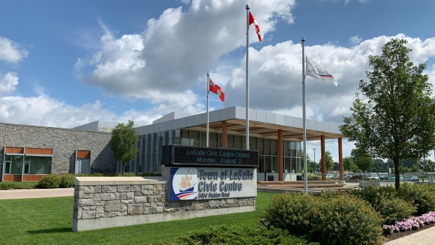 The Civic Centre in LaSalle, Ont. is seen Friday, July 30, 2021. (Chris Campbell / CTV Windsor)