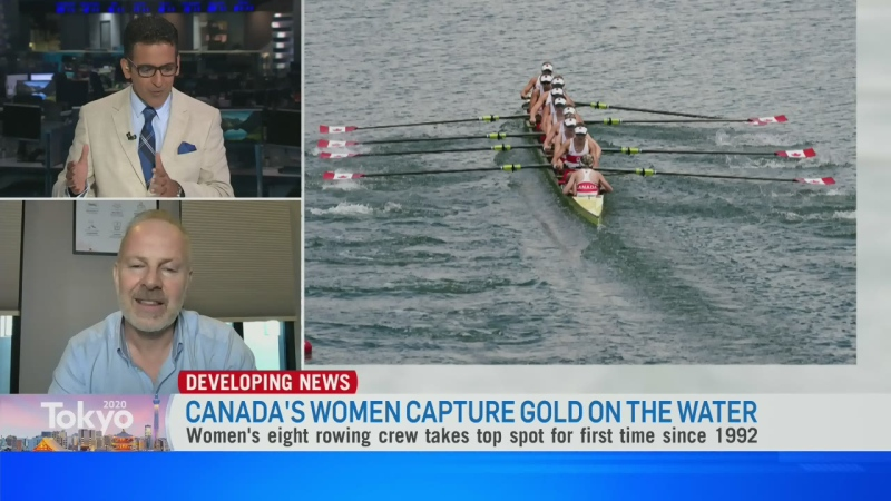 Gold medal win for Canada's Women's rowing team