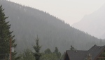 Smoke and haze in Banff, Alta. is mainly from a number of wildfires in B.C. Officials say there are no out-of-control wildfires in southern Alberta right now.